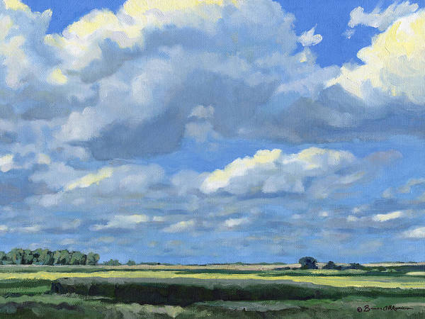 Landscape Art Print featuring the painting High Summer by Bruce Morrison