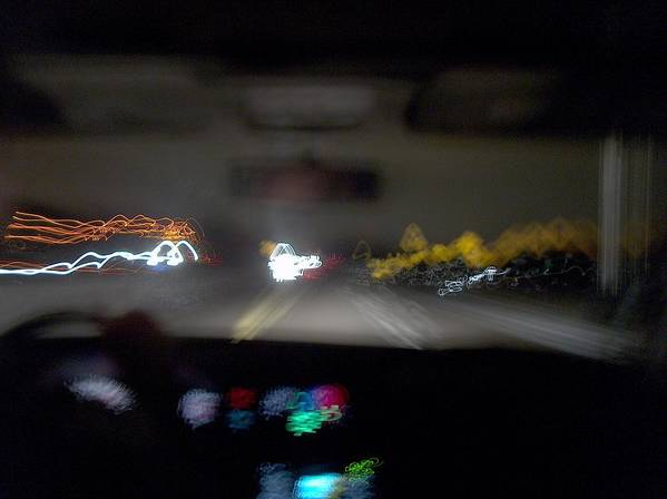 Driving Art Print featuring the photograph Highway Hypnosis by Jacob Stempky
