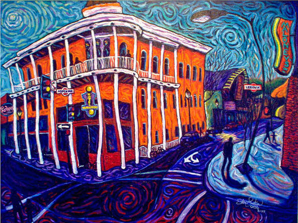 Historic Art Print featuring the painting Historic Hotel Weatherford by Steve Lawton