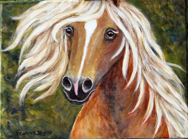 Horse Painting Art Print featuring the painting Horse Painting Blondie by Frances Gillotti