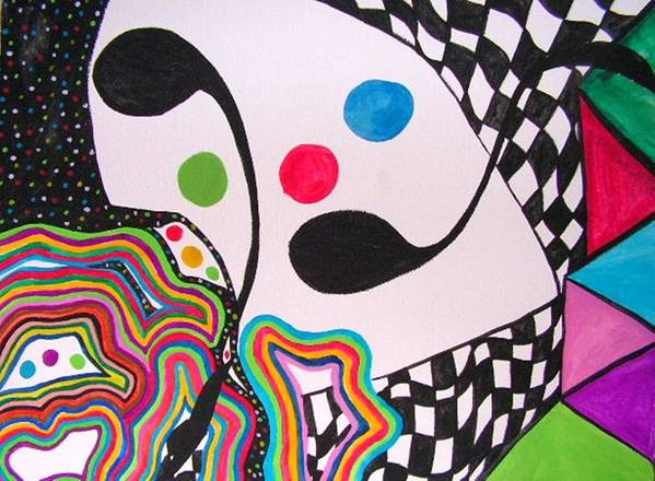 Abstract Art Print featuring the painting Humpty Dumpty Fell by Katina Cote