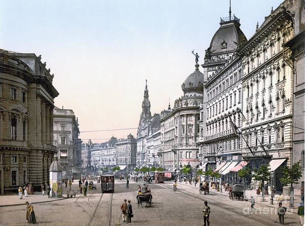 1895 Art Print featuring the photograph Hungary: Budapest, C1895 by Granger