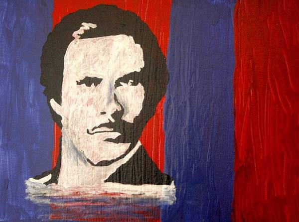 Abstract Art Print featuring the painting I Am Ron Burgundy by April Harker