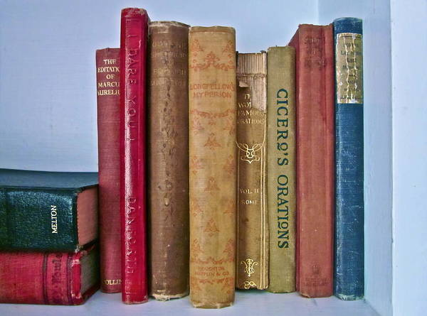 Photograph Of Books Art Print featuring the photograph I Dare You Et Al. by Gwyn Newcombe