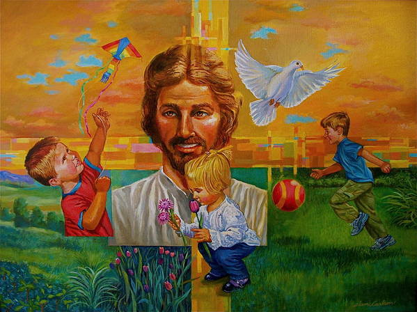 Christ Art Print featuring the painting I Will Never Leave You by Alan Carlson