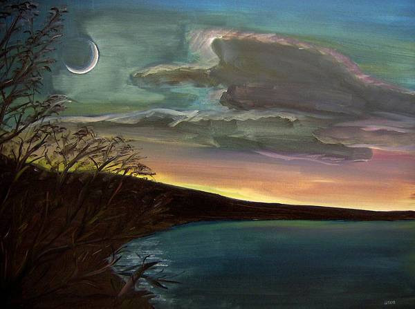 Sunset Art Print featuring the painting Impressionistic Twilight by Clemens Greis