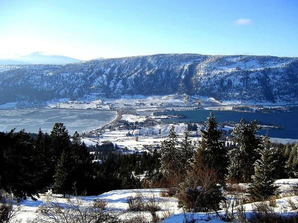 Oyama Art Print featuring the photograph Jewel Of The Okanagan by Will Borden