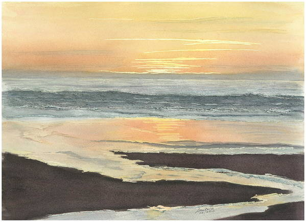 Kalaloch Beach Art Print featuring the painting Kalaloch Sunset II by Joel Deutsch
