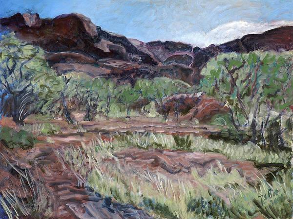 Australia Art Print featuring the painting Kings Canyon II by Joan De Bot