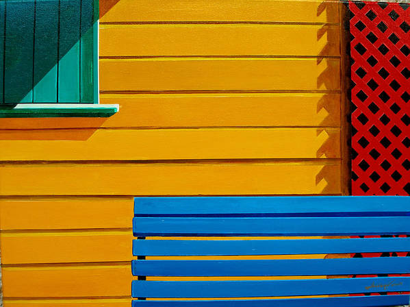 Architecture Art Print featuring the painting La Boca Street Scene 33 by JoeRay Kelley