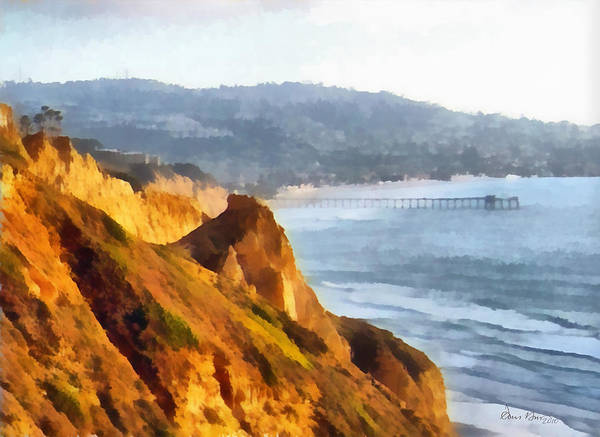 Ocean Art Print featuring the painting La Jolla Glider by Russ Harris