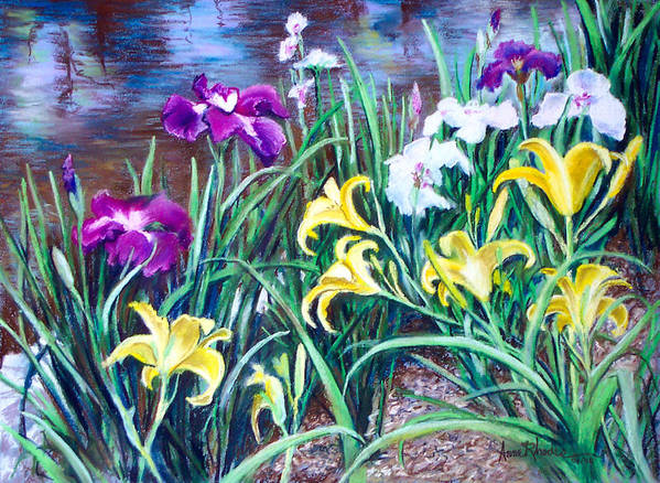 Floral Art Print featuring the painting Ladies Club by Anne Rhodes