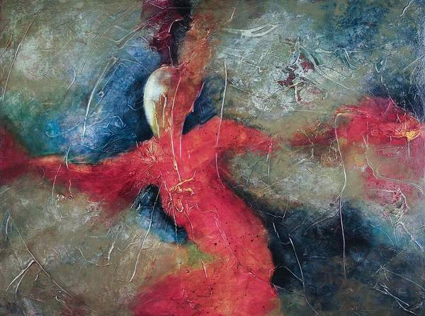 Dance Art Print featuring the painting Lady Of Dance by Marie Baehr