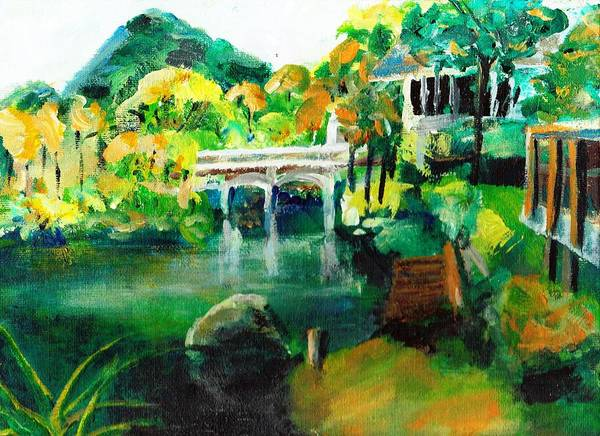 Lake Art Print featuring the painting Lake Malibu by Randy Sprout