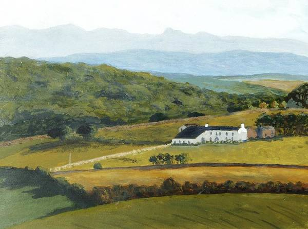 Littledale Art Print featuring the painting Lancashire And Cumbria Uk by Nigel Radcliffe