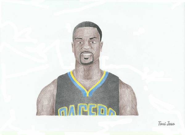 Basketball Art Print featuring the drawing Lance Stephenson by Toni Jaso