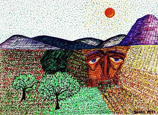 Landscapes Art Print featuring the drawing Landscape by Sarah Loft