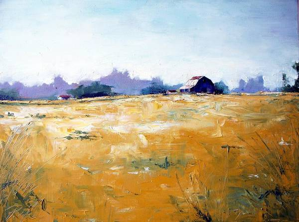Art Art Print featuring the painting Landscape With Barn by RB McGrath