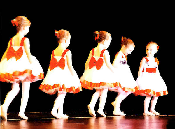 Ballet Print featuring the photograph Le Petite Ballet by Margie Avellino