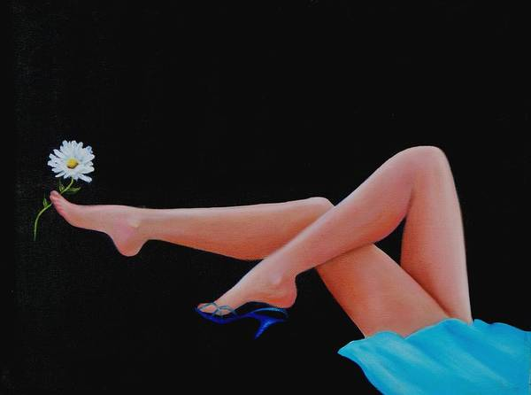 Oil Painting Art Print featuring the painting Legs by Joni McPherson