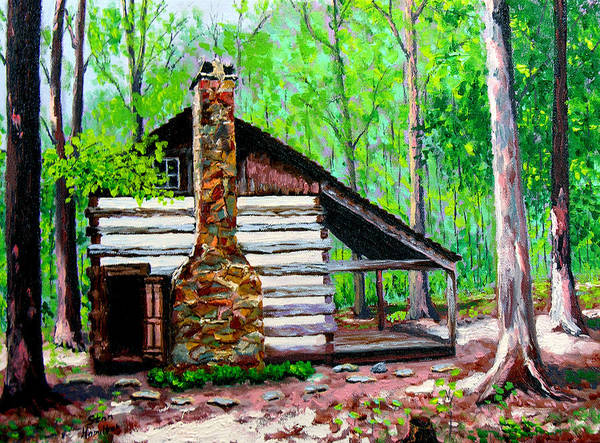 Log Cabin Art Print featuring the painting Log Cabin V by Stan Hamilton