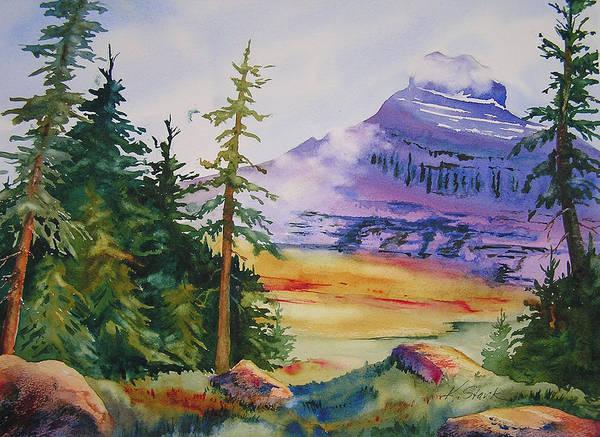 Landscape Art Print featuring the painting Logan Pass by Karen Stark