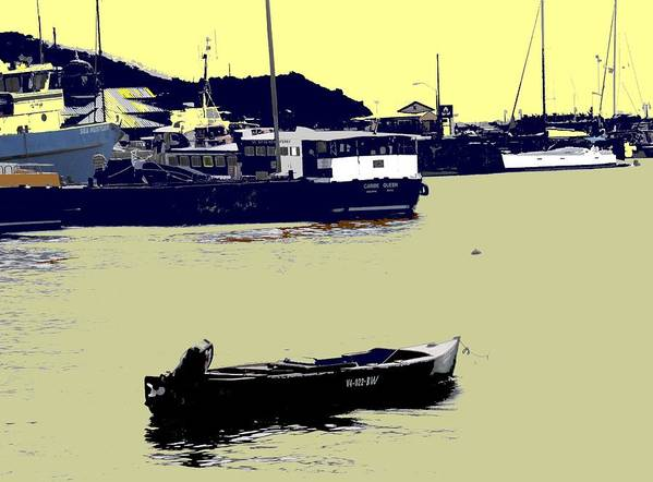 St Kitts Art Print featuring the photograph Lone Boat by Ian MacDonald