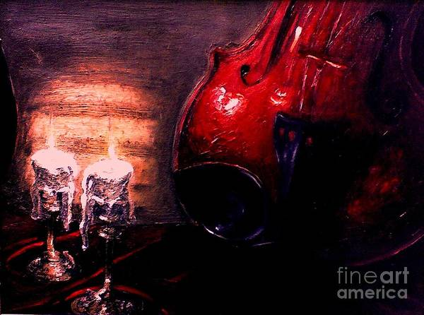Love Art Print featuring the painting Love For Music by Patricia Awapara