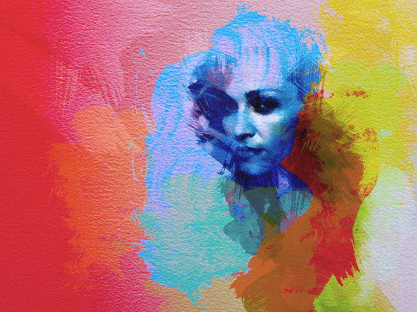 Madonna Art Print featuring the painting Madonna by Naxart Studio