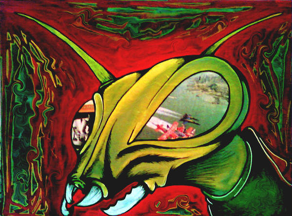 Paintings Art Print featuring the painting Mantis by Jeff DOttavio