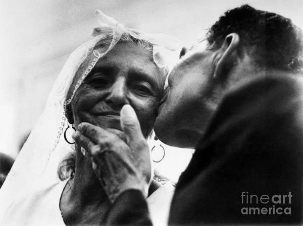 100 Art Print featuring the photograph Marrying At 100 by Granger