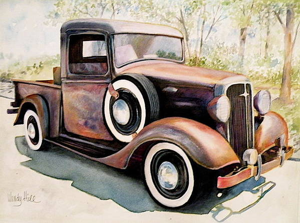 Truck Art Print featuring the painting Memories by Wendy Hill