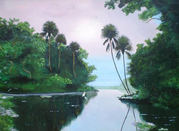 miday or the river art print by francis roberts ll