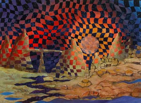 Landscape Art Print featuring the painting Mindscape by Linda L Doucette