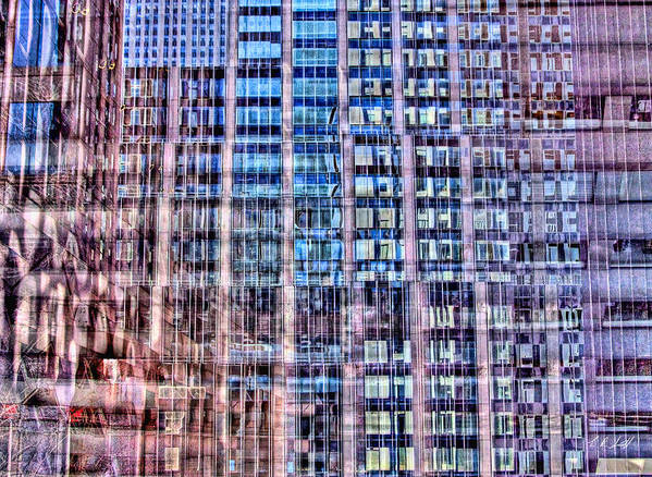 Hdr Art Print featuring the photograph Moma Abstract by E R Smith