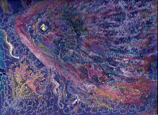 Pretty Art Print featuring the mixed media Moody Blues Fish With Sparkling Eye I by Anne-Elizabeth Whiteway