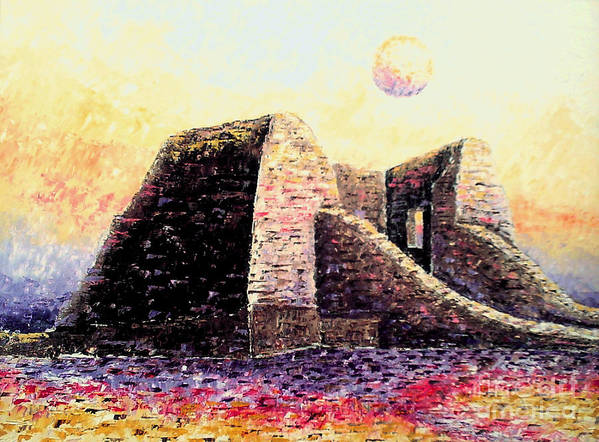 Impessionism Art Print featuring the painting Moonrise by Santiago Chavez