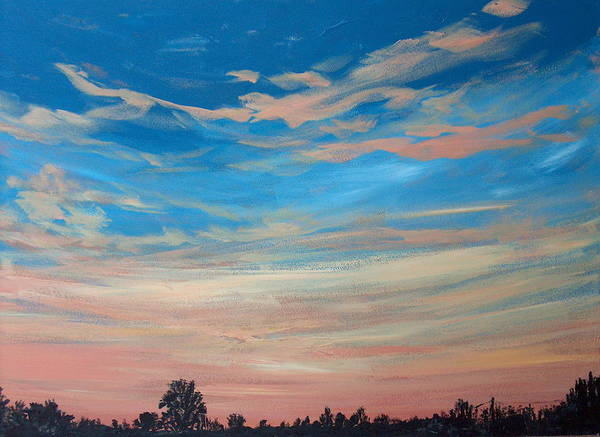 Sunrise Art Print featuring the painting Mornin Iv by Pete Maier