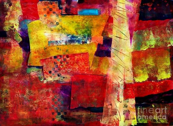 Abstract Expressionism Art Print featuring the painting Moroccan Souk by Donna Frost