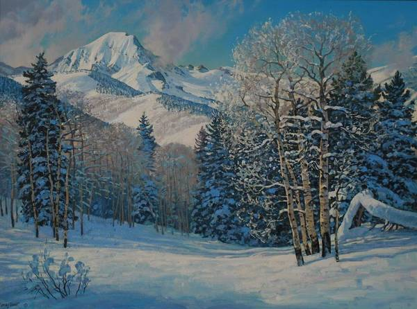 Landscape Art Print featuring the painting Mt. Daly by Lanny Grant