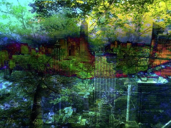 Nature Art Print featuring the digital art Nature's Revenge by Carole Guillen