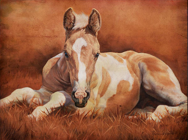 Michelle Grant Art Print featuring the painting New Paint by JQ Licensing