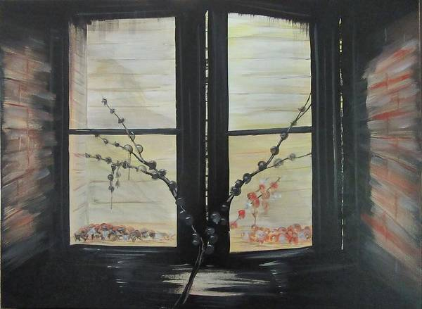 Window Art Print featuring the painting Night Window by J Edward Neill