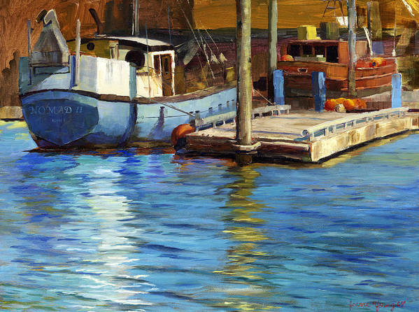 Seascape Print featuring the painting Nomad II by Jeanne Young