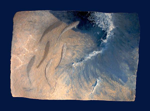Seascape Art Print featuring the painting Ocean by Steve Karol