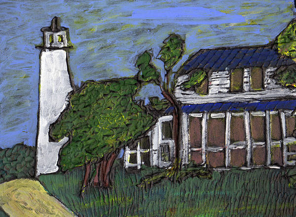 Light House Art Print featuring the painting Ocracoke Island Light House by Wayne Potrafka