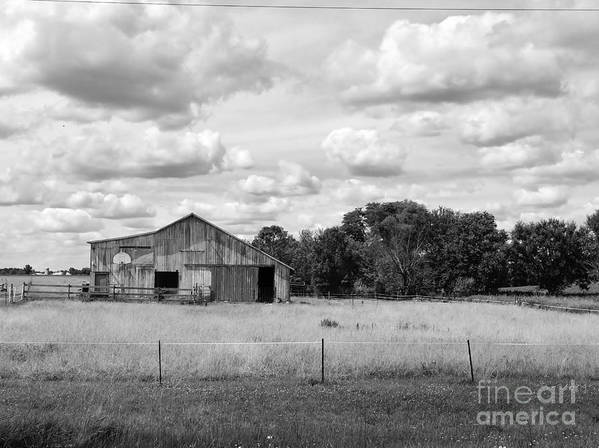 Black Art Print featuring the photograph Old Farm Scene by Rancher's Eye Photography