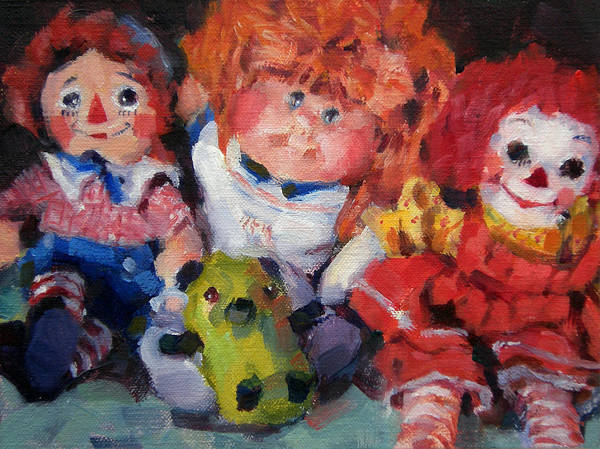 Toys Art Print featuring the painting Old Friends by Merle Keller