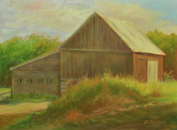 Landscape Art Print featuring the painting Old Vermont Barn by Phyllis Tarlow