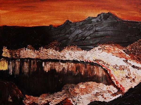 Landscape Art Print featuring the painting Oman by Lauren Luna